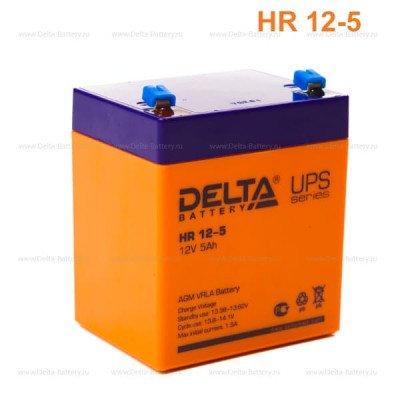 Аккумулятор HR 12-5 12В 5Ач