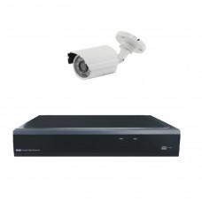 Комплект из 1 уличной видеокамеры 2 Mpix и видеорегистратора