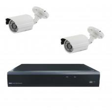 Комплект из 2 уличных видеокамер 2 Mpix и видеорегистратора