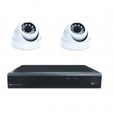 Комплект из 2 внутренних видеокамер 2 Mpix и видеорегистратора