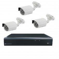 Комплект из 3 уличных видеокамер 2 Mpix и видеорегистратора