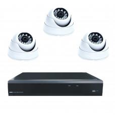 Комплект из 3 внутренних видеокамер 2 Mpix и видеорегистратора