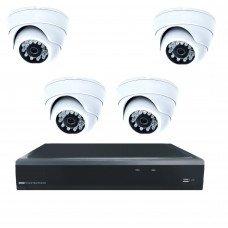 Комплект из 4 купольных антивандальных видеокамер 4 Mpix и видеорегистратора