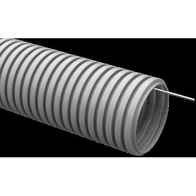 CTG20-20-K41-050I Труба гофрированная ПВХ 20мм с протяжкой серая (50м)