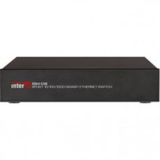 ISH-08 Неуправляемый сетевой коммутатор, 10/100/1000 Мбит/с, 8 портов 8P8C