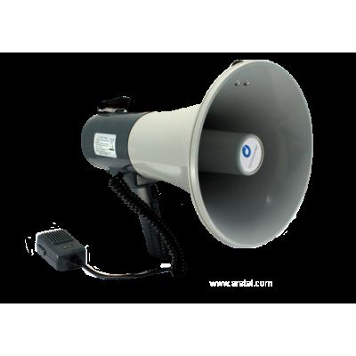 TS-135BC Мегафон ручной 25/35 Вт с выносным микрофоном и сигналом сирены, 12 В