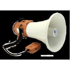 TS-125B Мегафон ручной 18/25 Вт с выносным микрофоном, 9 В (6 x 1,5 В)