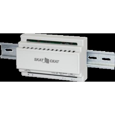 Источник вторичного электропитания резервированный SKAT-24-2,0-DIN 24В 2А под DIN-рейку под внешний АКБ от 7 А/ч