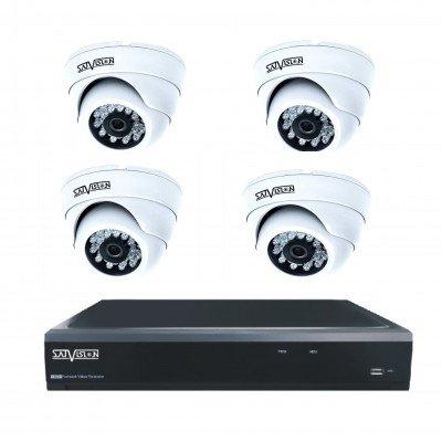Комплект из 4 внутренних видеокамер 1 Mpix и видеорегистратора
