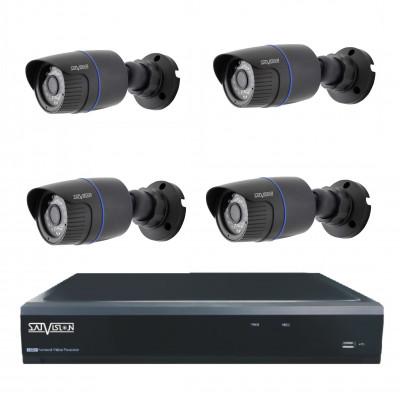 Комплект из 4 уличных видеокамер 5 Mpix и видеорегистратора