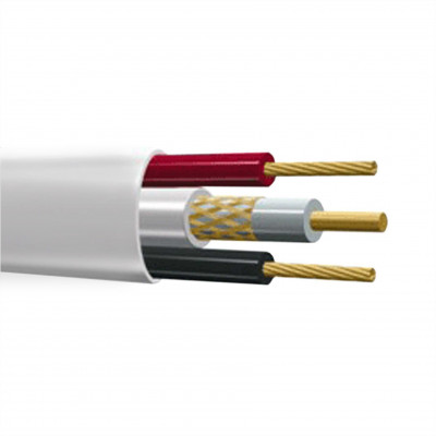 КВК-В 2х0,75 Кабель видеонаблюдения комбинированный внутренний PLEXUS