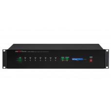 DAC-288 Сетевой аудиоконтроллер, технология Dante, 8 аудиовходов, 8 аудиовыходов, RS-232, 8 пар 'сухих контактов'