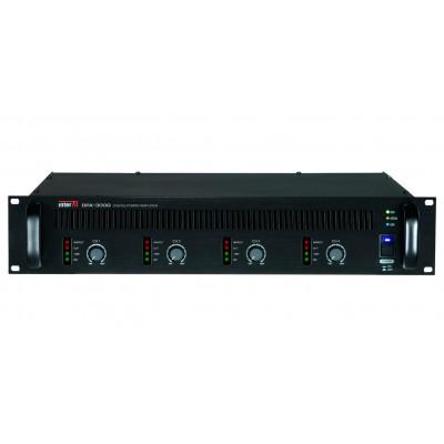 DPA-300Q Четырехканальный трансляционный цифровой усилитель мощности, 4 х 300 Вт