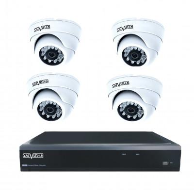 Комплекты видеонаблюдения на 4 внутренних камеры по супер-ценам!